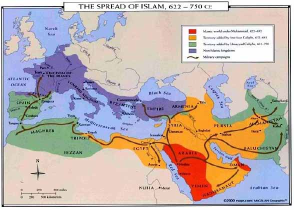 How was Islam spread? - Spread Of Islam Map on political aspects of islam, umayyad caliphate, spread of confucianism map, rashidun caliphate, ancient islam map, muslim conquests, ottoman empire map, spread of buddhism map, spread of bahai map, spread of wahhabism map, islam africa map, spread of judaism religion, spread of zoroastrianism map, muslim history, muslim conquest of egypt, spread of culture map, byzantine empire map, spread of religion map, islamic contributions to medieval europe, early islam map, pre-islamic arabia, spread of hinduism map, spread of democracy map, spread of sikhism map, emirate of sicily map, spread of judaism map, spread of gnosticism map, spread of christianity map,